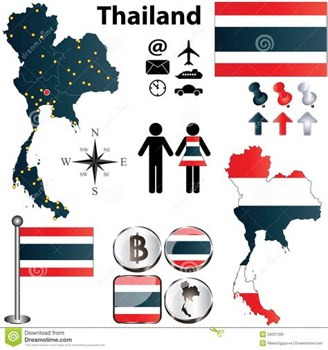 thailand map vector free map of thailand stock vector image of silhouette country