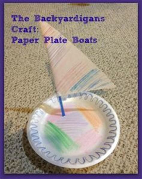 how to make a paper plate boat paper plate toilet roll and paper tube preschool crafts