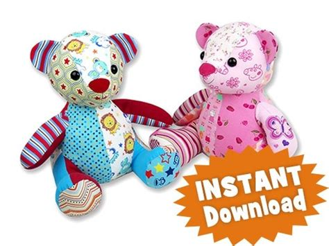 Patchwork Teddy Sewing Pattern - patchwork teddy sewing pattern melody memory