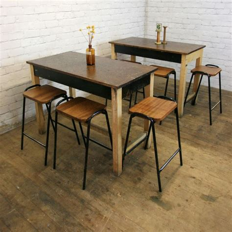 science lab tables x1 vintage industrial school iroko laboratory science lab table cafe restaurant restaurant