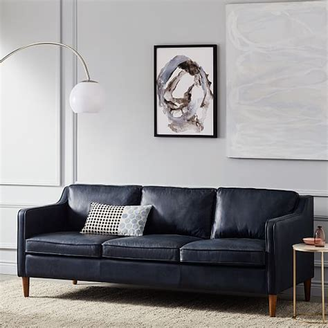 hamilton sofa and leather hamilton leather sofa 81 quot west elm
