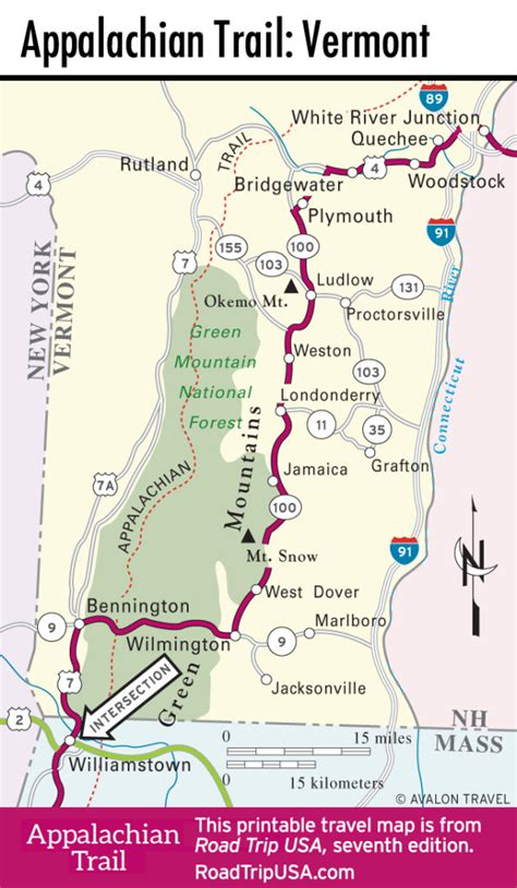 Vermont Jim Jeffords the appalachian trail through vermont road trip usa