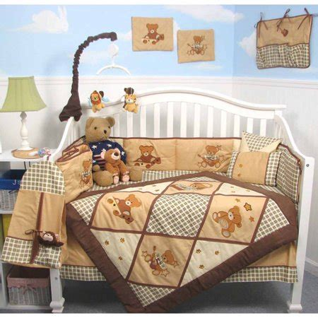 complete nursery bedding sets soho baby panda complete nursery bedding set walmart