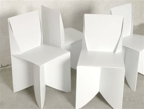 Paper Folding Chair - origami style paper thin patio ready white folding