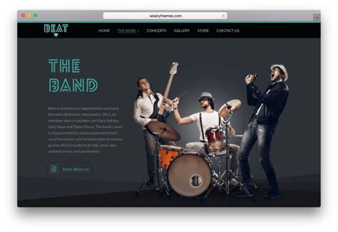 themes wordpress music band 20 best one page wordpress parallax themes collections 2017