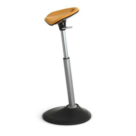focal upright mobis leaning stool with foam seat