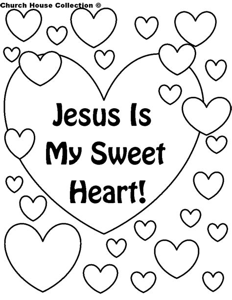 Church House Collection Blog Jesus Is My Sweet Heart Printable Sunday School Coloring Pages