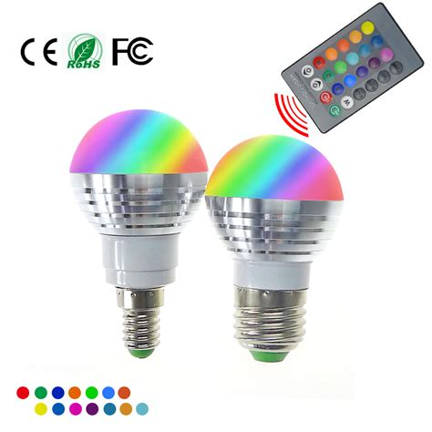 Rgb Led Light Bulbs Led Rgb Bulb L E27 E14 Ac85 265v 5w Led Rgb Spot Blubs Light Magic Rgb Lighting Ir