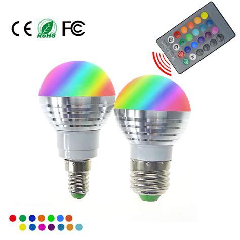 Led Rgb Bulb L E27 E14 Ac85 265v 5w Led Rgb Spot Blubs Rgb Led Light Bulbs