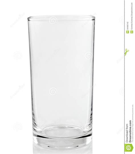 how to glass empty glass on a white background stock photo image of