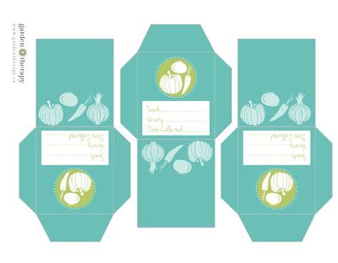 printable seed envelope printable vegetable seed envelopes