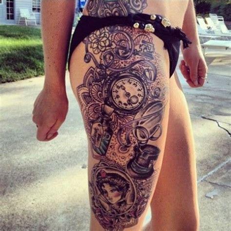 tattoo flower ross ashley ross side thigh watch tattoo watch tattoos
