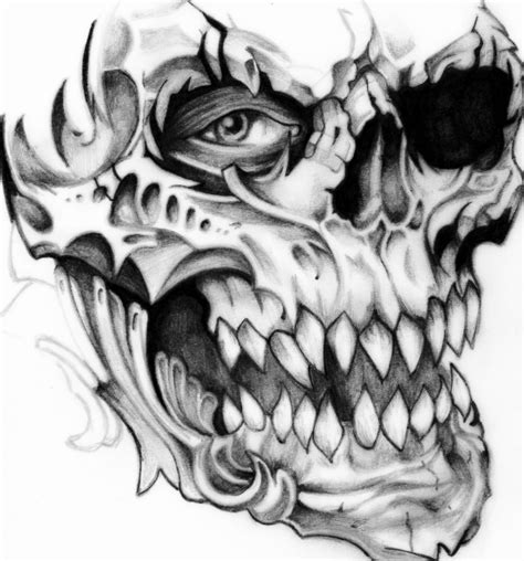 skull tattoo drawings skull free pictures