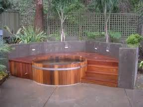 patio tub backyard patio ideas with tub landscaping