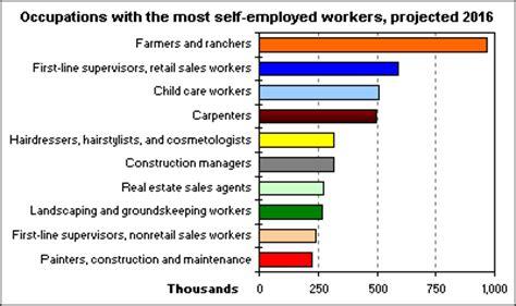 self employment in 2016 : the economics daily : u.s