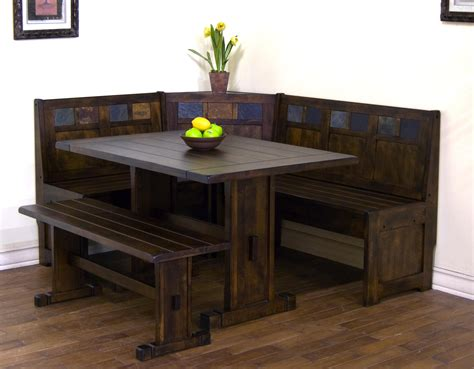 Dining Room Table With Corner Bench Salem 4 Breakfast Nook Dining Room Set Table Corner Bench Circle
