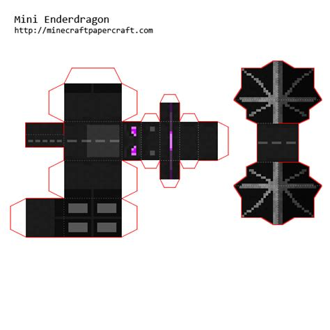 Minecraft Paper Folds - papercraft mini ender