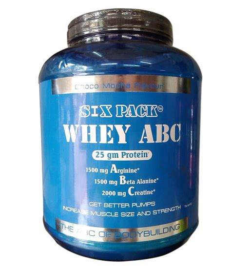 Six Pack 100 Whey Protein six pack whey abc 2kg buy six pack whey abc 2kg at best prices in india snapdeal