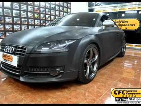 Carbon Folie Youtube by Audi New Tt 3d Carbon Black Folie Entire Car Skins Youtube