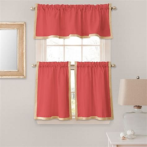 coral colored curtains buy seaview window curtain valance in coral from bed bath