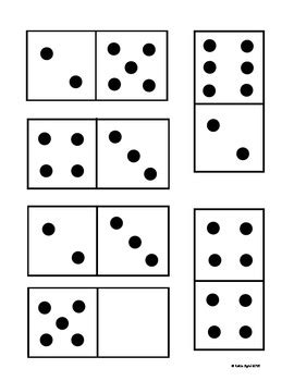 printable domino cards freebie domino cards for number matching and games by