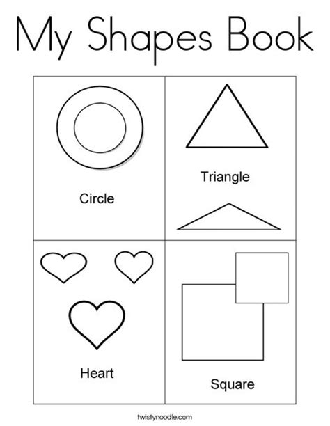 printable shapes book for preschool free worksheets 187 shapes coloring page free math