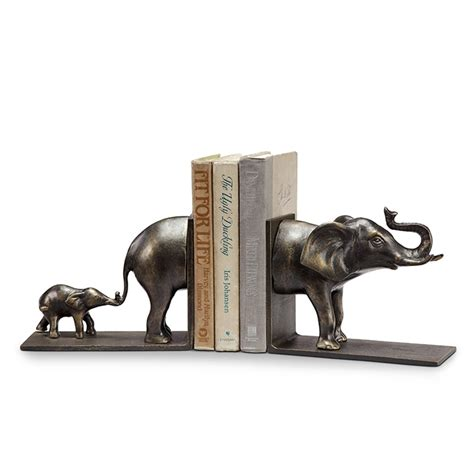 Wrought Iron Kitchen Island spi elephant and baby bookends 34128