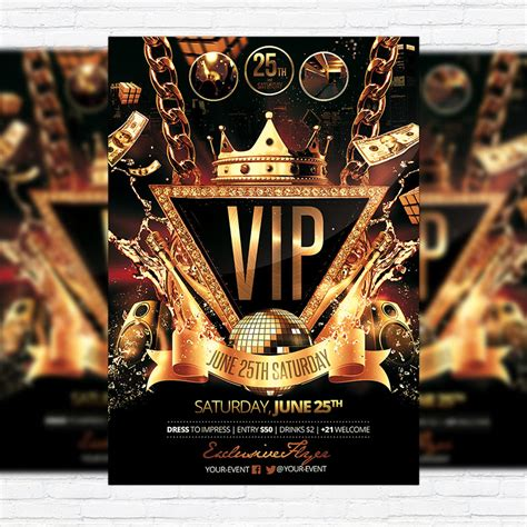 template flyer vip vip party premium flyer template facebook cover
