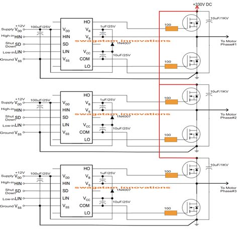 driving three phase motor on single phase supply circuit
