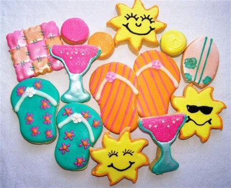 Summer Decorated Cookies by Summer Sugar Cookies One Dozen
