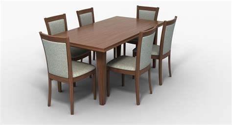 Dining Table Models Dining Table Chairs 3d Model Turbosquid 1240138