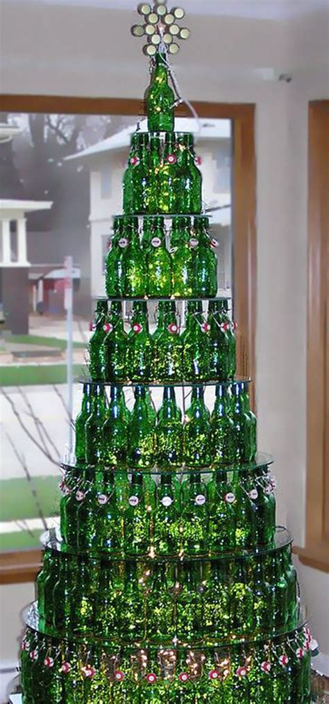 beer bottle christmas trees