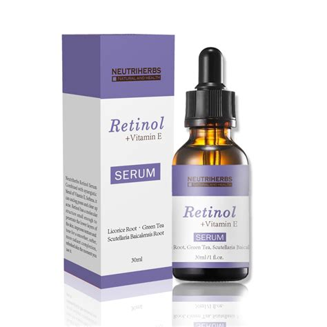 Serum Alis Herbeauty 30ml retinol vitamin e serum retinoic acid bottles
