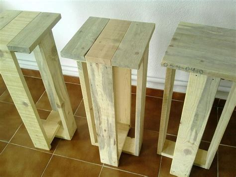 How To Make A Pallet With A Back by Wooden Pallet Stool Plans Pallet Wood Projects