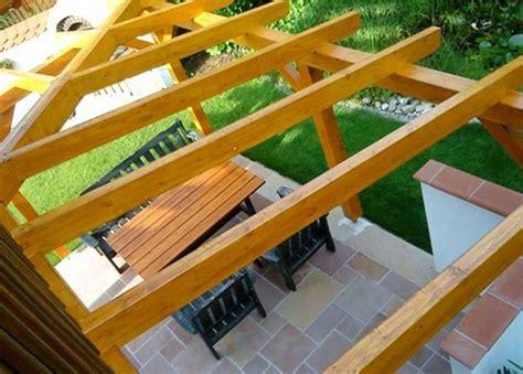 ueberdachung terrasse selber bauen schoen