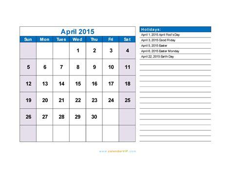 printable daily planner april 2015 april 2015 calendar blank printable calendar template in