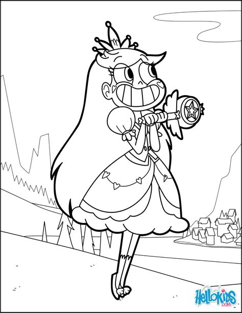 star butterfly coloring page princess star butterfly coloring pages hellokids com