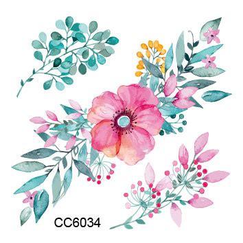 design bunga vintage aliexpress com buy 2 pcs flower tattoo sticker decals