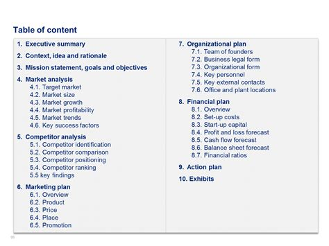 Download A Simple Business Plan Template By Ex Mckinsey Consultants Business Plan Template