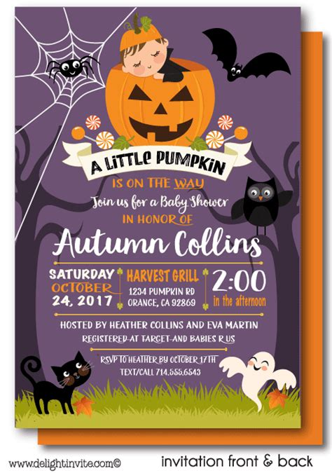 Lil Pumpkin Baby Shower Theme by Fall Pumpkin Baby Shower Invitations