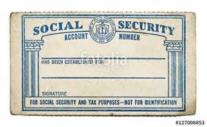 social security template quot worn blank social security card copy space white