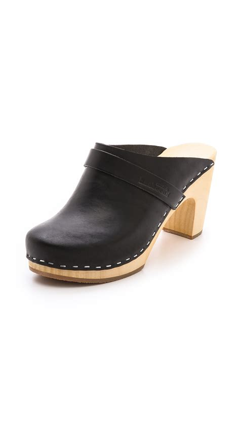 slip on clogs for swedish hasbeens slip on classic clogs in black lyst