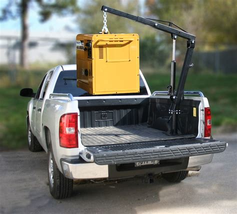 truck bed lift black bull pickup truck crane up to 72 quot lift 1 000 lbs