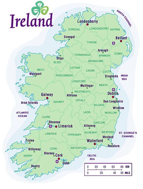 map ireland tourism ireland map