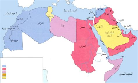 arab map countries arabic without walls