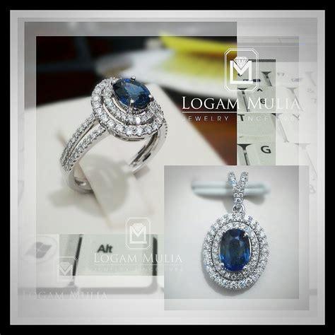 Anting Blue Saphire Cincin Gelang Kalung Anting Import Korea Xuping jual liontin berlian wanita dg blue sapphire arl rk p602333 logammuliajewelry