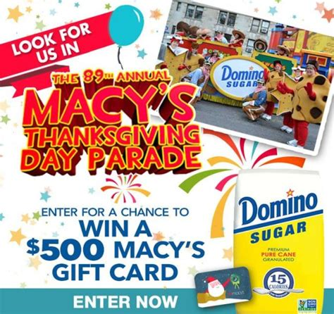 Domino Sugar Sweepstakes 2016 - win a 500 macy s gift card thrifty momma ramblings