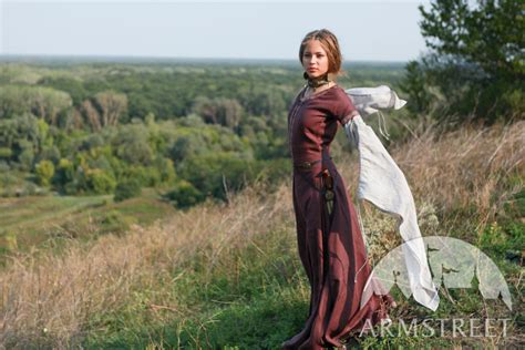 film fantasy medievale medieval flax linen natural quot archeress quot dress and