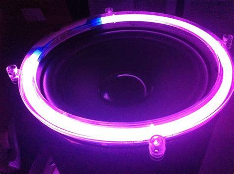 neon purple jeep 10 inch purple neon speaker rings glow subwoofer