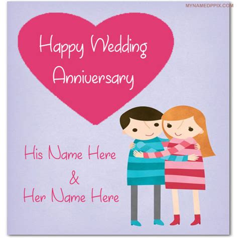Wedding Anniversary Card With Name by Wedding Anniversary Wish Card With Name Image